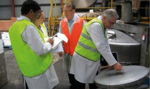 A picture during a chemical inspection